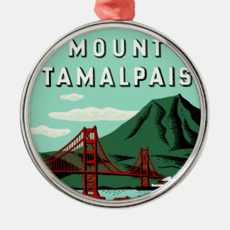 Mount Tamalpais Travel Poster Ornaments
