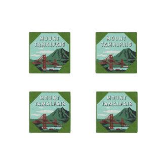 Mount Tamalpais Vintage Travel Poster Stone Magnet