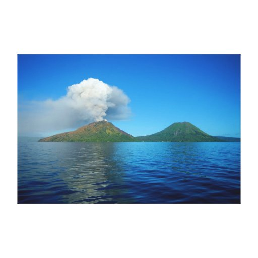 Mount Tarvurvur Eruption in Papua New Guinea Gallery Wrapped Canvas