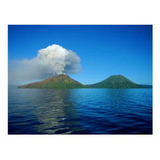 Mount Tarvurvur Eruption in Papua New Guinea Postcard