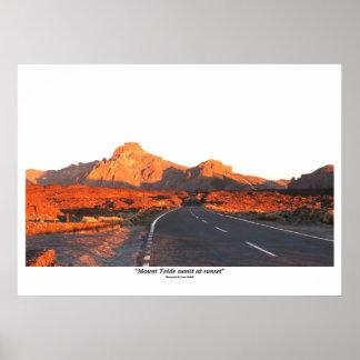 Mount Teide sumit at sunset Poster