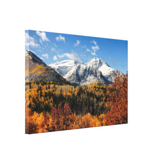 Mount Timpanogos in Autumn Utah Mountains Canvas Print