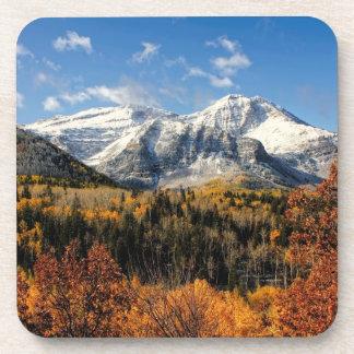 Mount Timpanogos in Autumn Utah Mountains Coaster