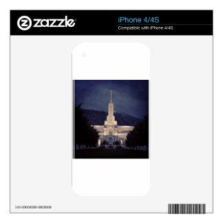 Mount Timpanogos LDS Temple, American Fork, Utah Skin For iPhone 4