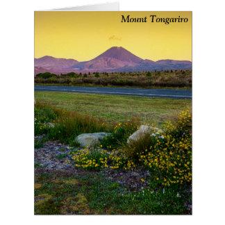 Mount Tongariro, New Zealand Card