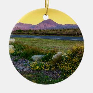 Mount Tongariro, New Zealand Ceramic Ornament