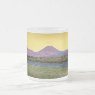 Mount Tongariro, New Zealand Frosted Glass Coffee Mug