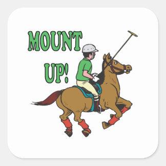 Mount Up Square Sticker