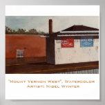 """""""Mount Vernon del oeste"""" - el primer de una serie Posters"""