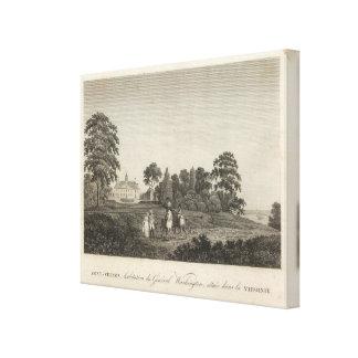 Mount Vernon, home of General Washington Canvas Print