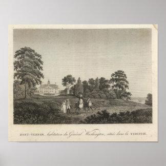 Mount Vernon, home of General Washington Poster