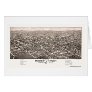 Mount Vernon, IL Panoramic Map - 1881 Card