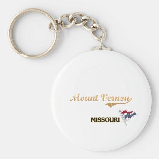 Mount Vernon Missouri City Classic Keychain