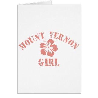 Mount Vernon Pink Girl Greeting Cards