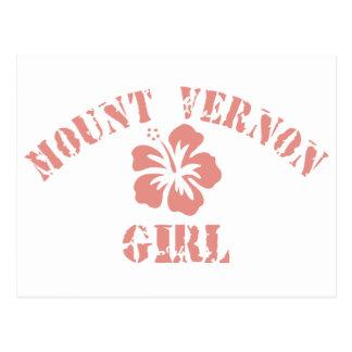 Mount Vernon Pink Girl Postcard