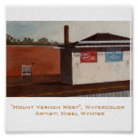 """""""Mount Vernon West"""" - The First of a Series Print"""