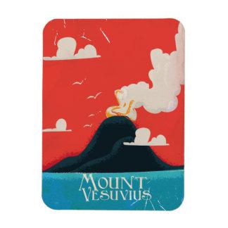Mount Versuvuis vintage travel poster Rectangular Photo Magnet