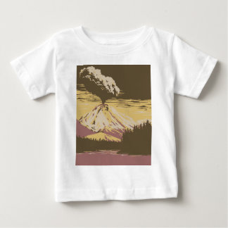 Mount Vesuvius Erupts Baby T-Shirt