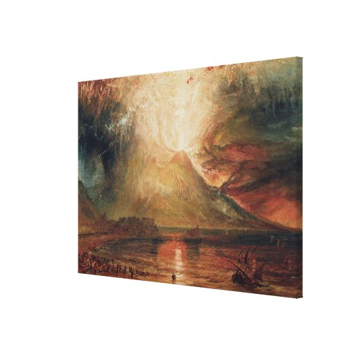 Mount Vesuvius in Eruption, 1817 (w/c on paper) Canvas Prints