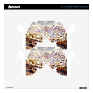 Mount Vesuvius in the Morning by Pierre-Auguste PS3 Controller Skin