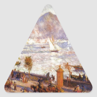 Mount Vesuvius in the Morning by Pierre-Auguste Triangle Sticker