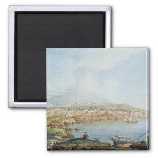 Mount Vesuvius, plate 36 from 'Campi Phlegraei: Ob 2 Inch Square Magnet