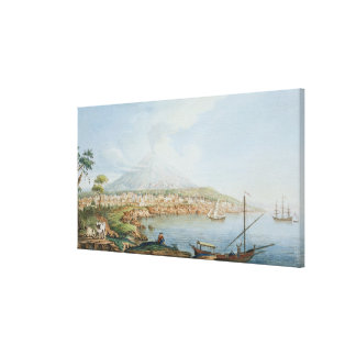 Mount Vesuvius, plate 36 from 'Campi Phlegraei: Ob Canvas Print