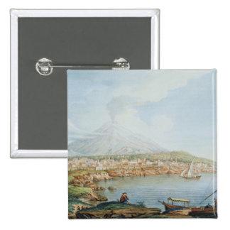 Mount Vesuvius, plate 36 from 'Campi Phlegraei: Ob Pinback Button