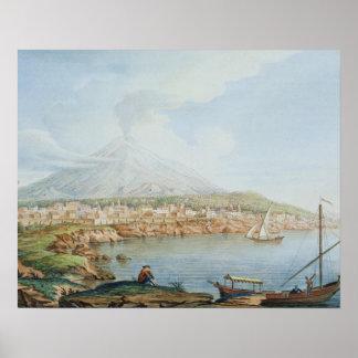 Mount Vesuvius, plate 36 from 'Campi Phlegraei: Ob Poster