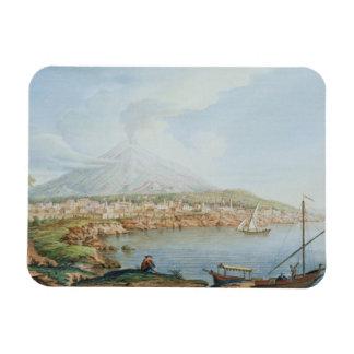 Mount Vesuvius, plate 36 from 'Campi Phlegraei: Ob Rectangular Photo Magnet