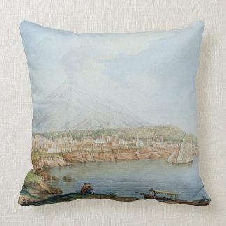 Mount Vesuvius, plate 36 from 'Campi Phlegraei: Ob Throw Pillow