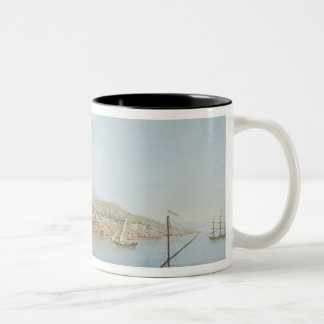 Mount Vesuvius, plate 36 from 'Campi Phlegraei: Ob Two-Tone Coffee Mug