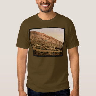 Mount Vesuvius, road and railroad, Naples, Italy v T Shirt