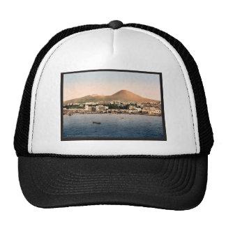 Mount Vesuvius, with Torre de Creco, Naples, Italy Mesh Hats