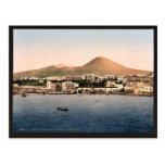 Mount Vesuvius, with Torre de Creco, Naples, Italy Post Card