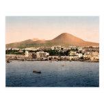 Mount Vesuvius, with Torre de Creco, Naples, Italy Postcard