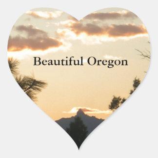Mount Washington At Sunset Heart Sticker