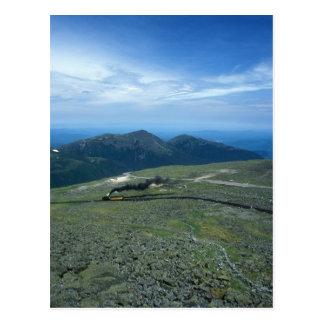 Mount Washington Cog Railroad at Summit Postcard