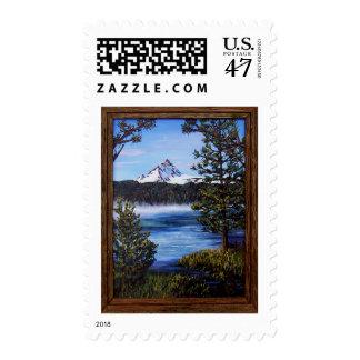 Mount Washington from Big Lake Postage