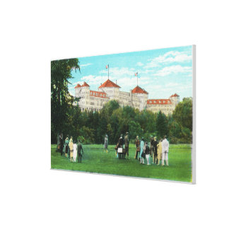 Mount Washington Hotel View of Golf Gallery Canvas Prints