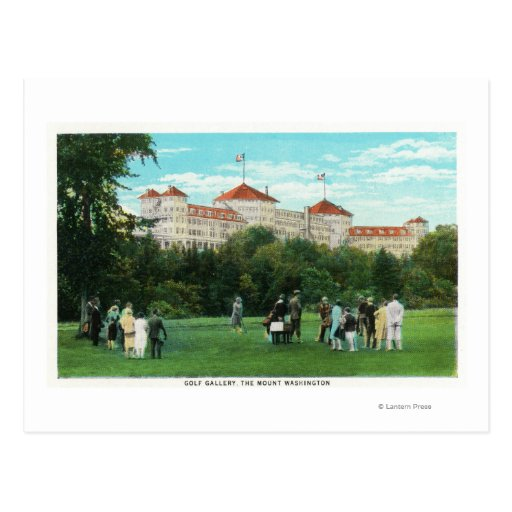 Mount Washington Hotel View of Golf Gallery Postcard