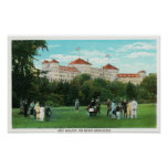 Mount Washington Hotel View of Golf Gallery Poster
