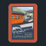 "Mount Washington, New HampshireCog Railroad Magnet<br><div class=""desc"">Mount Washington,  New Hampshire - Cog Railroad - Lantern Press Original Poster -   was created in 2008. This image depicts scenes from Mount Washington,  NH.</div>"