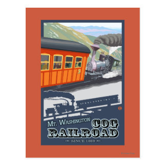 Mount Washington, New HampshireCog Railroad Postcard