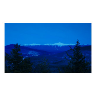 Mount Washington Presidential Range Twilight Poster