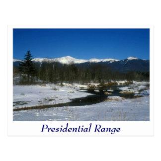 Mount Washington Presidential Range Winter Postcard