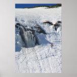 Mount Washington Tuckermans Ravine Waterfall and S Poster
