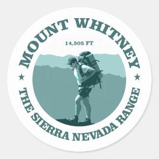 Mount Whitney Classic Round Sticker