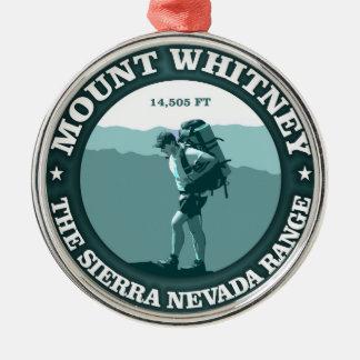 Mount Whitney Metal Ornament