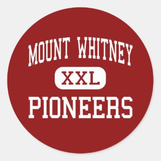 Mount Whitney - Pioneers - High - Visalia Classic Round Sticker